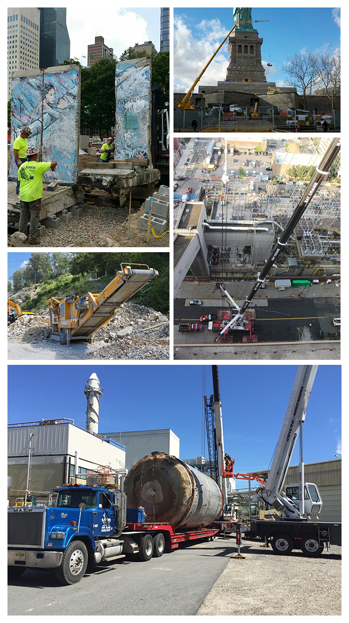 R Baker Amp Son Project Demolition Rigging Machinery